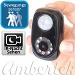 Mini Geheimkamera Ambertek DV2000 mit IR Nachtzusatzlicht und Bewegungssensor