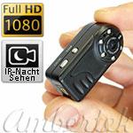 Geheimkamera Full HD Mini-Camcorder Ambertek Q7N mit Nachtbeleuchtung