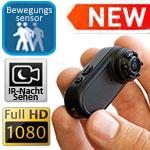 Minivideocam HD 1080p Ambertek MD98 mit Nachtzusatzlicht und einem 170 Grad Blickwinkel